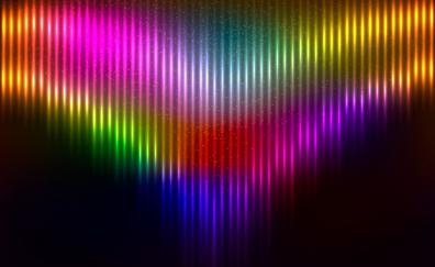 Abstract colorful glowing stripes