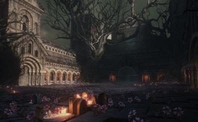 Dark souls iii, video game, dark, castle
