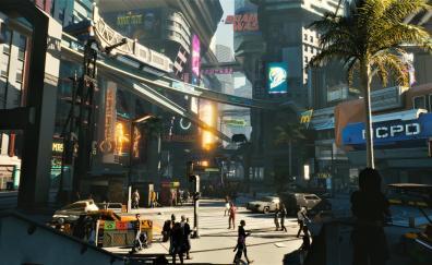 Modern city, Cyberpunk 2077, 2018
