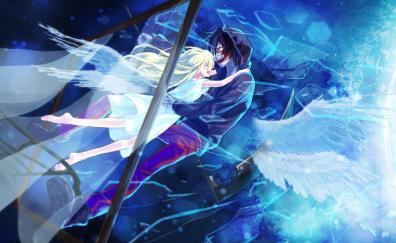 Anime rachel gardner and zack couple