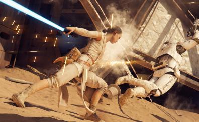 Rey star wars battlefront ii 8k
