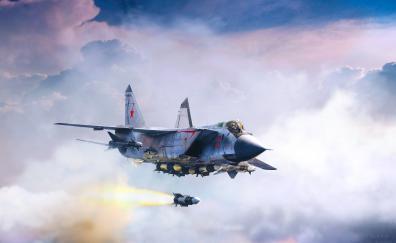Mikoyan mig 31 fighter aircraft