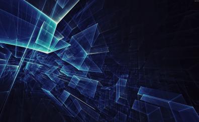 Abstract, geometry, glass, dark