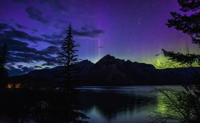 Aurora borealis banff national park alberta canada