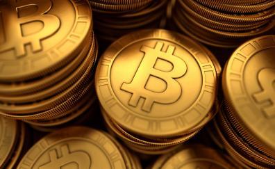 Abstract bitcoin coins