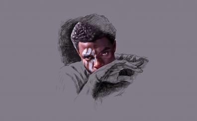 Black Panther, Chadwick Boseman, minimal, artwork