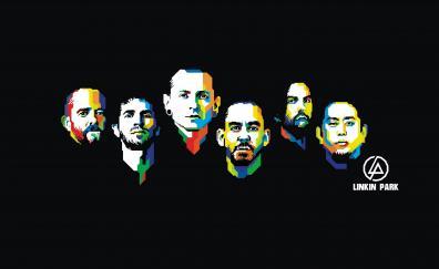 Linkin park american rock band minimal 5k