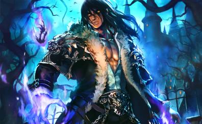 Fantasy, wolf king, art