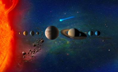 Planets solar system digital art