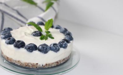 Cake, baking, blueberry