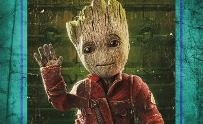 Baby groot guardians of the galaxy vol 2 4k