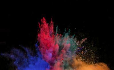 Color powder blast