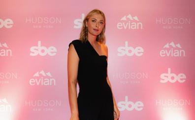 Black dress, pretty, Maria Sharapova