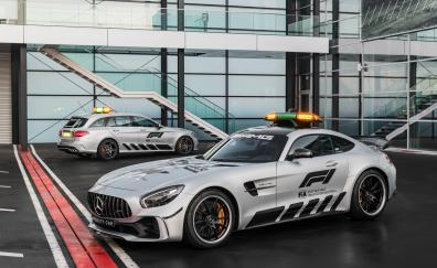 Mercedes amg gt r and c klasse estate f1 safety car 2018