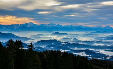Mountains nature horizon austria