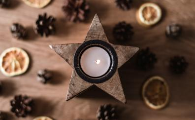 Christmas decorations candle