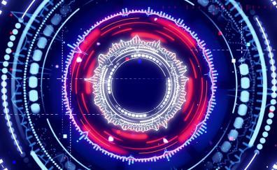 Mandala circles digital art