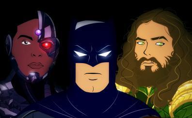 Batman aquaman cyborg artwork