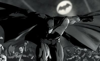 Monochrome batman comics