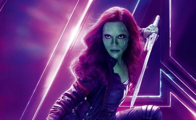 Avengers infinity war zoe saldana gamora