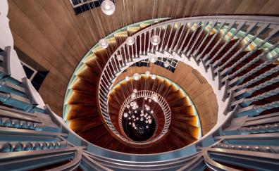 Staircase spiral wooden architecture