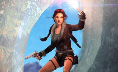 Tomb Raider, Lara Croft, video game, art