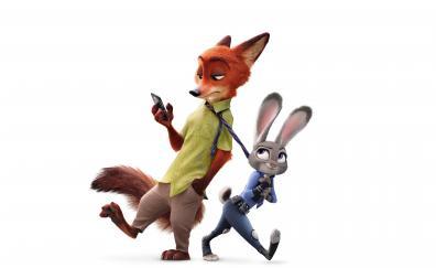 Zootopia, judy hopps, nick wilde, animation movie