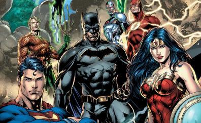 Justice league dc comics all heros