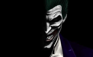 Joker, dark, dc comics, villain, artwork