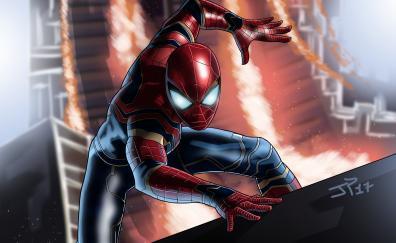 Spider man infinity war art