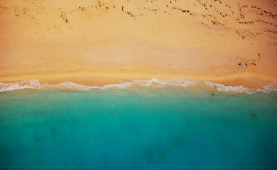 Beach, aerial view