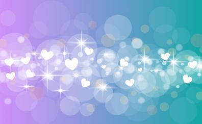 Glitter, bokeh, hearts, abstract