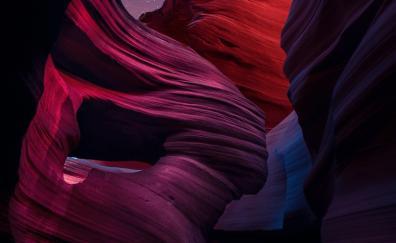 Night, rocks, canyon, slots