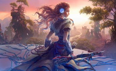 Aloy horizon zero dawn game artwork