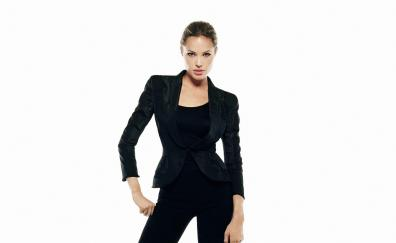Gorgeous, Angelina Jolie, black dress