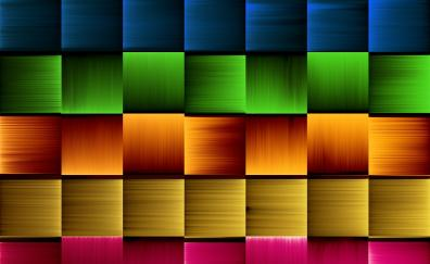 Colorful, squares, abstract, 2019