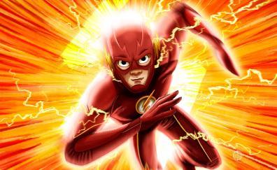 Flash, run flash run, fan art, dc comics