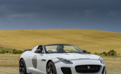 Jaguar f type sports convertible car