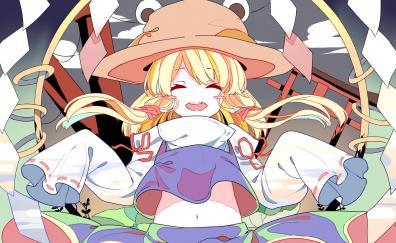 Cute suwako moriya closed eyes