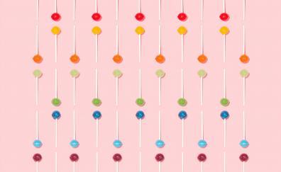 Colorful lollipops minimal