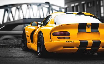 Dodge viper rear sports car
