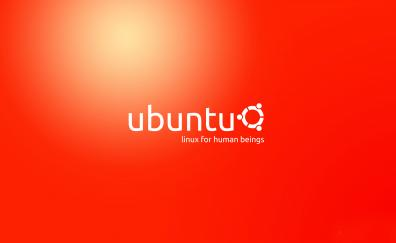 Ubuntu logo orange 4k