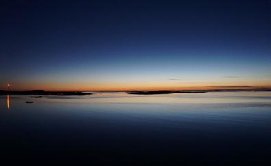 Sunset beach skyline