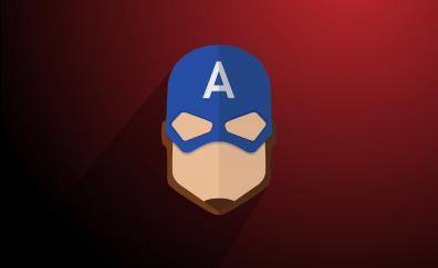 Captain America, Logo, minimal
