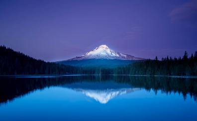 Landscape lake mountains 4k