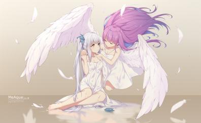 Cute, angels, Kagura Mea, Minato Aqua