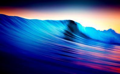 Sea waves colorful tides 5k