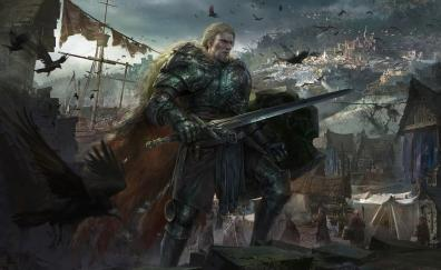 Knight warrior art