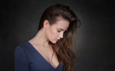 Simple portrait girl model