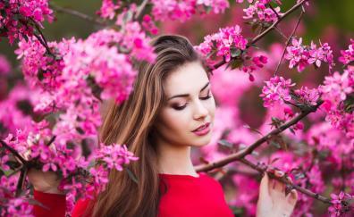 Blossom girl model mood